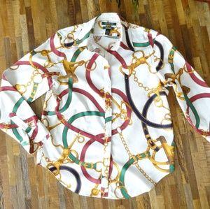 Lauren Ralph Lauren Equestrian Theme Dressy Shirt
